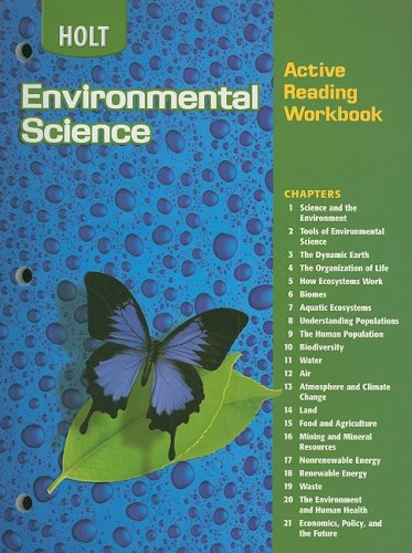 9780030665943: Holt Environmental Science: Active Reading Workbook