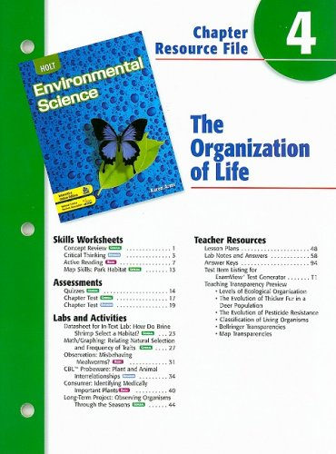 Holt Environmental Science Chapter 4 Resource File: Arms, Karen