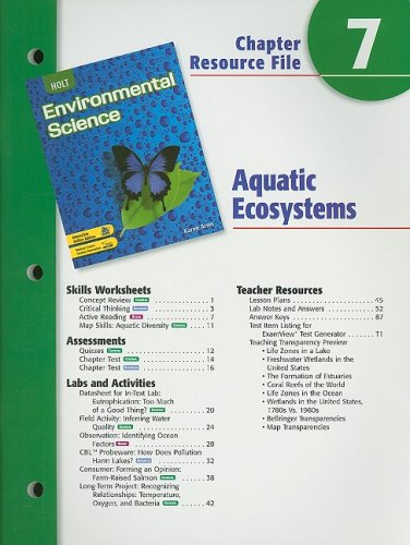 9780030666087: Holt Environmental Science Chapter 7 Resource File: Aquatic Ecosystems