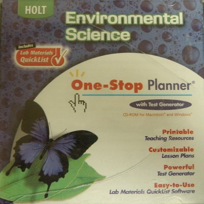 9780030666131: Holt Environmental Science: One-Stop Planner CD-ROM with Test Generator