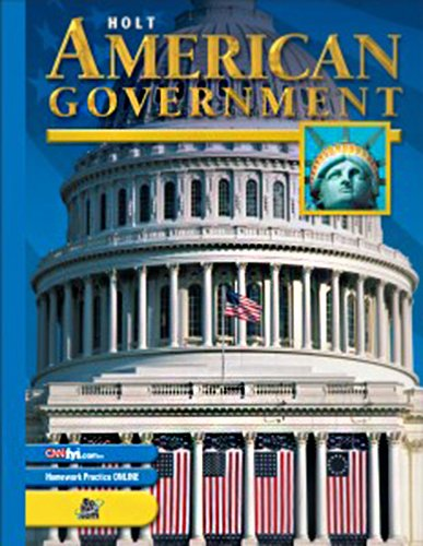 9780030666384: Holt American Government - Chapter Tests with Answer Key 0030666384