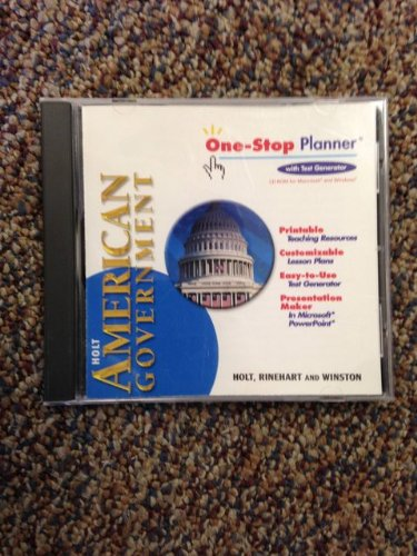 9780030666414: Holt American Government, One-Stop Planner with Test Generator CD ROM ISBN 0030666414 978003066414