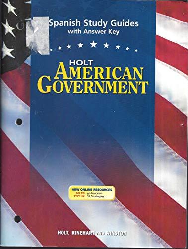 9780030666438: Spn Study Gds W/Ansky Am Govt 2003