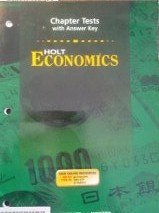 9780030666582: Economics Chapter Tests with Answer Key