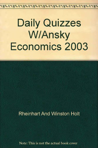 9780030666612: Economics Daily Quizzes with Answer Key