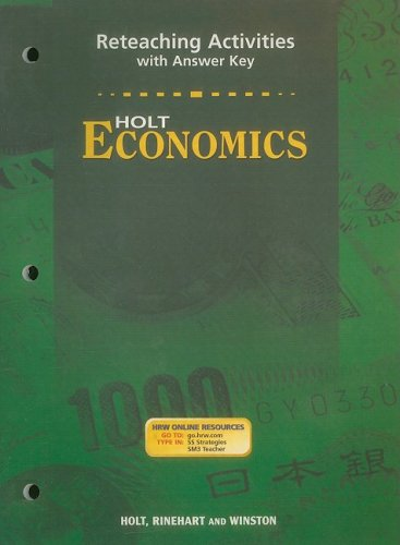 9780030666643: Holt Economics Reteaching Activities with Answer Key