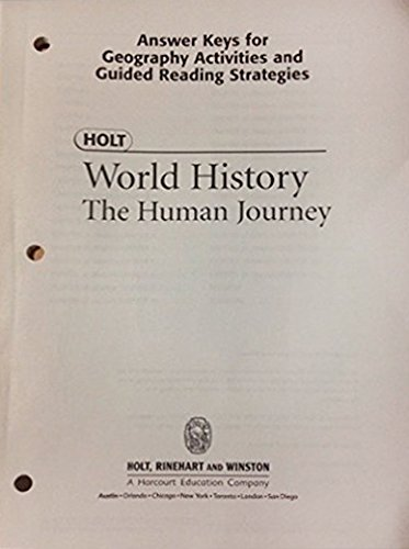 9780030666872: Holt World History the Human Journey: Answer Keys for Geography Activities and Guided Reading Strategies