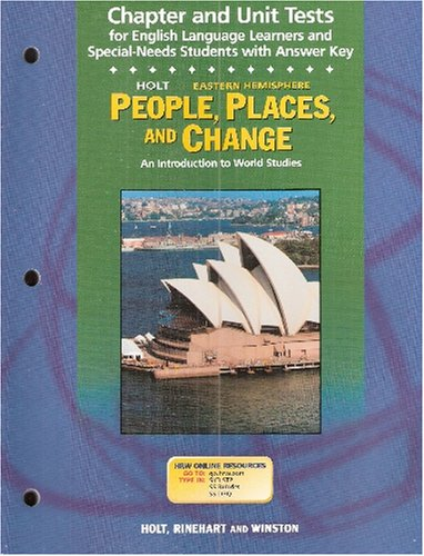 9780030666926: Chapter and Unit Tests with Answer Key (Holt People, Places, and Change)