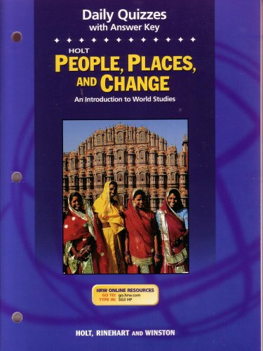 9780030666940: Holt People, Places, and Change: An Introduction to World Studies, Daily Quizzes with Answer Key