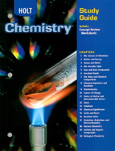 9780030667428: Holt Chemistry Study Guide