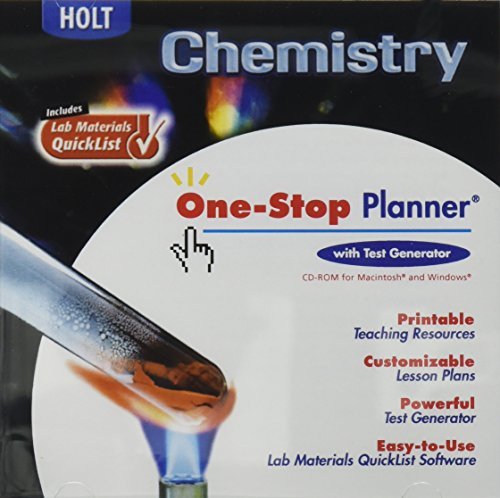 9780030667473: Holt Chemistry (One-Stop Planner with Test Generator)