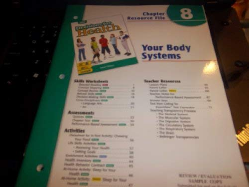 9780030668470: Ch 8 Your Body Systems Dechlth 2004 Grn