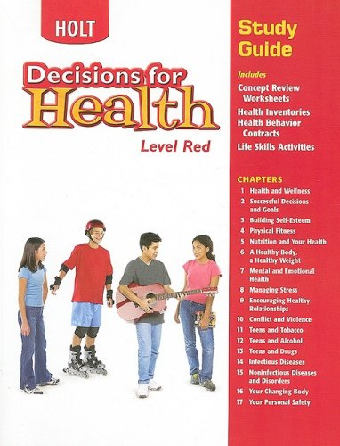 9780030668630: Decisions for Health: Study Guide Level Red Level Red
