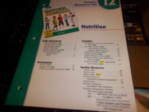 9780030668869: Ch 12 Nutrition Dechlth 2004 Grn
