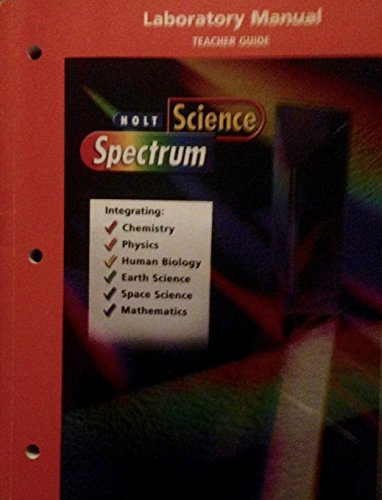 9780030670770: Science Spectrum Laboratory Manual by Holt Teacher's Guide