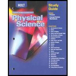 Physical Science Study Guide (Holt Science Spectrum: Physical Science)