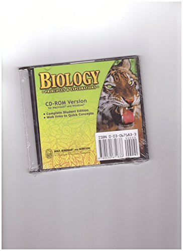 9780030671838: Principles and Explorations, Grade 9: Holt Biology: Principles & Explorations