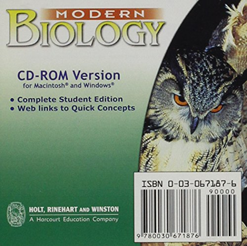 9780030671876: Modern Biology: Student Edition CD-ROM for Macintosh and Windows 2002