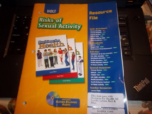 9780030674969: Holt Decisions for Health: Risks of Sexual Activity- Resource File