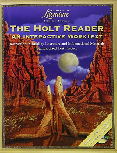 9780030675478: Elements of Literature: Holt Reader Interactive Worktext Grade 8 Second Course