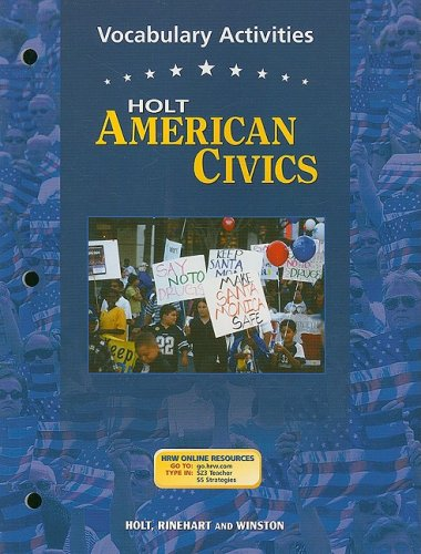 9780030676819: Holt American Civics: Vocabulary Activities