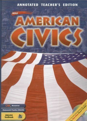 Holt American Civics : Annotated Teacher's Edition: William H. Hartley