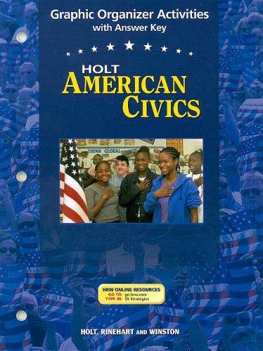 9780030676949: Holt American Civics: Graphic Organizer Activities Grades 9-12