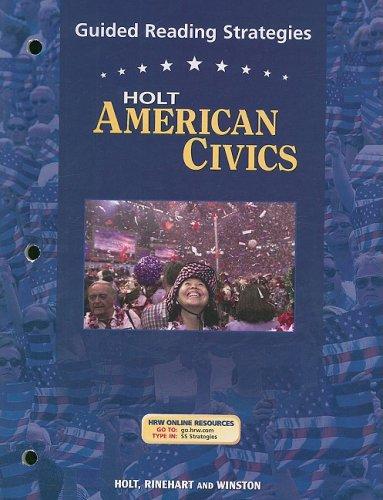 9780030676963: Holt American Civics: Guided Reading Strategies Grades 9-12