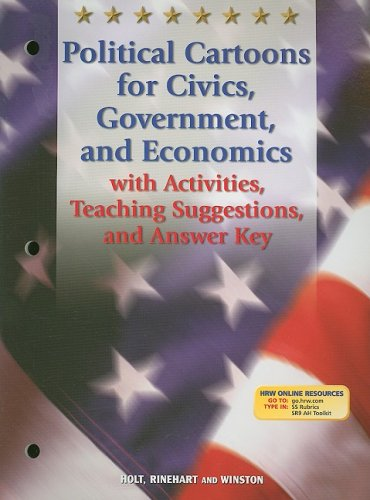 9780030677038: Holt Social Studies: Teaching Resouces: Political Cartoons for Civics, Government, and Economics