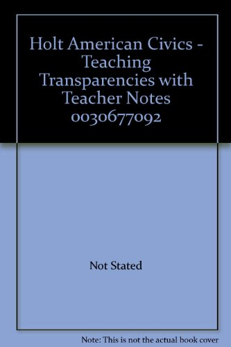 9780030677090: Holt American Civics - Teaching Transparencies with Teacher Notes 0030677092