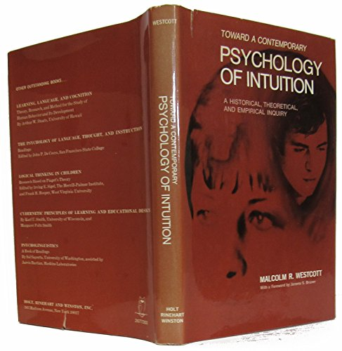 9780030677304: Toward a Contemporary Psychology of Intuition