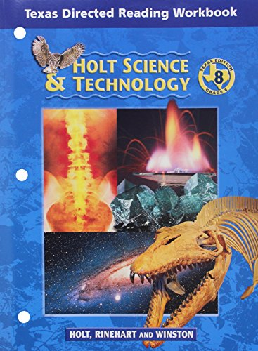9780030677878: Holt Science & Technology Texas: Dir Reading Workbook Grade 8 Physical Science