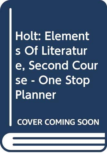 Holt: Elements Of Literature, Second Course -