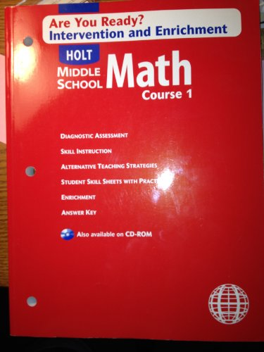 9780030679179: Are You Ready Intervention and Enrichment Middle School Math Course 1