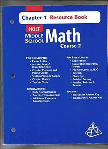 Holt Middle School Math Course 2 Resources