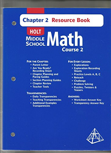 9780030679414: Holt Middle School Math Course 2 Chapter 2