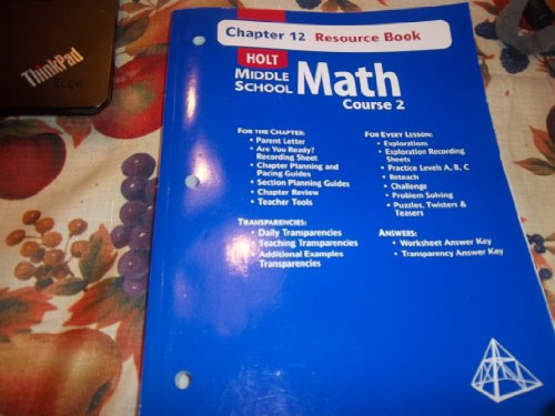 9780030679537: Holt Middle School Math Course 2