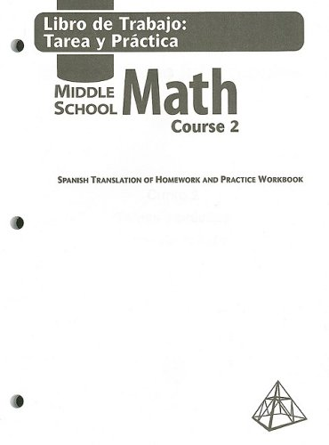 9780030679544: Holt Mathematics: Libro de Trabajo: Tarea y Practica, Holt Middle School Math, Course 2