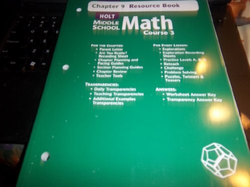 9780030679681: Chapter 9 Resource Book (Holt Middle School Math Course 3) (Paperback)