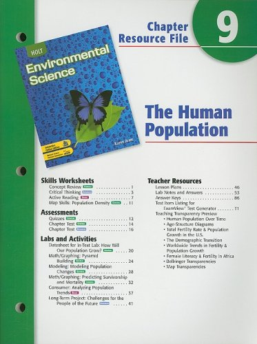 9780030680687: Holt Environmental Science Chapter 9 Resource File: The Human Population