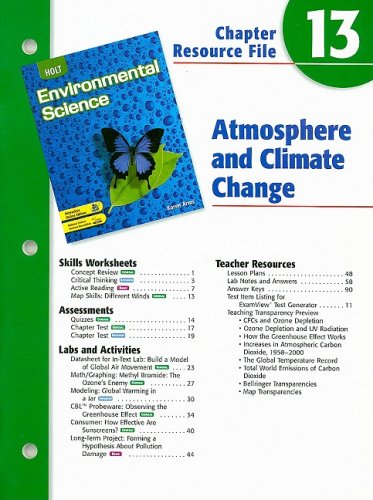 9780030680731: Holt Environmental Science Chapter 13 Resource File: Atmosphere and Climate Change