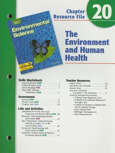 9780030680823: Holt Environmental Science Chapter 20 Resource File: The Environment and Human Health