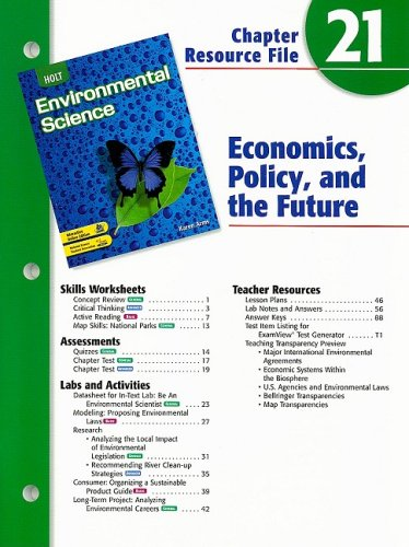 9780030680830 Holt Environmental Science Chapter 21