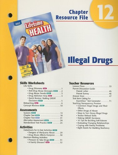 Holt Lifetime Health Chapter 12 Resource File: Holt Rinehart &