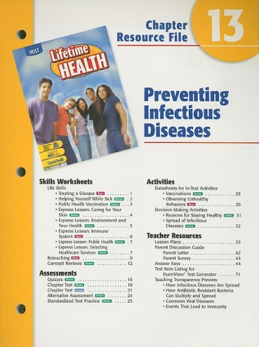 Holt Lifetime Health Chapter 13 Resource File: Holt Rinehart &