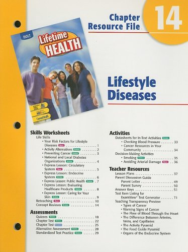 9780030681073: Holt Lifetime Health Chapter 14 Resource File: Lifestyle Diseases