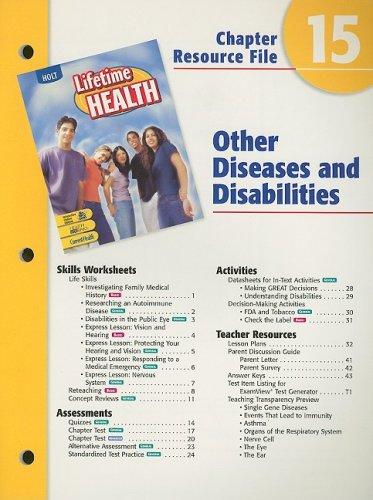Holt Lifetime Health Chapter 15 Resource File: