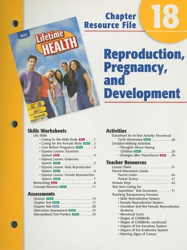 Holt Lifetime Health Chapter 18 Resource File: Holt Rinehart &