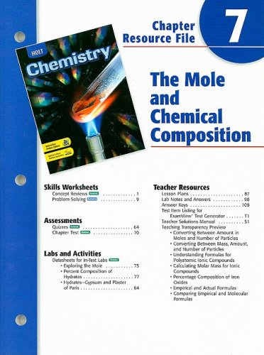 9780030681318: Holt Chemistry Chapter 7 Resource File: The Mole and Chemical Composition