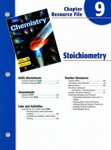 9780030681332: Holt Chemistry Chapter 9 Resource File: Stoichiometry